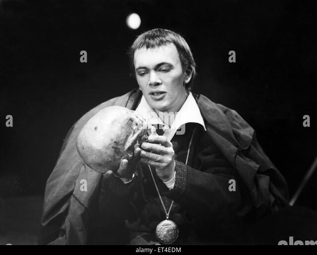 Unknown actor seen here performing as Hamlet Circa 1950 - Stock Image