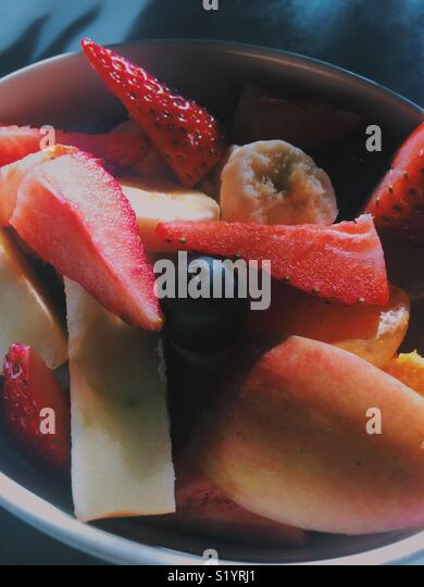 Fruit bowl - Stock Image