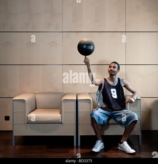 basketball spinner in office - Stock Image