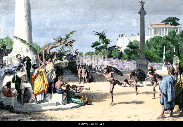Ancient Olympic Sports  running long jump discus