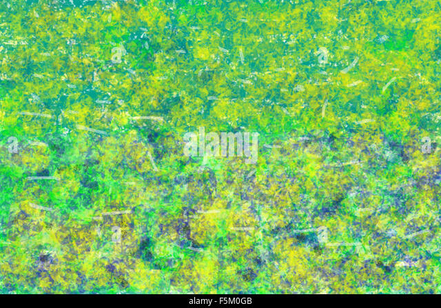 Abstract art painting, india, asia - Stock Image