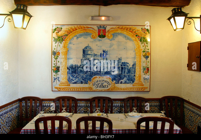 Restaurant bar azulejos stock photos restaurant bar for Azulejos restaurante