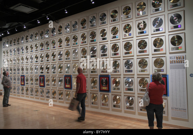 Nashville Tennessee Country Music Hall of Fame and & Museum attraction music industry preservation exhibition - Stock Image