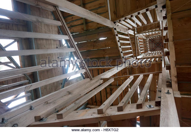 Staircase With Wooden Tower : Wooden staircase building stock photos