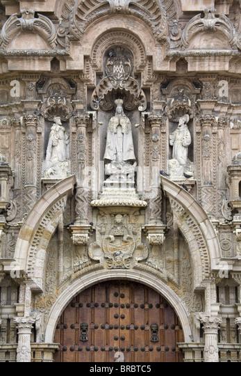 San Francisco Monastery in Lima Centro District, Lima, Peru - Stock Image