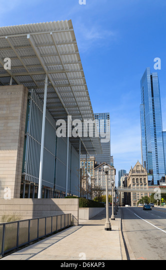 The Art Institute of Chicago, Chicago, Illinois, United States of America, North America - Stock Image