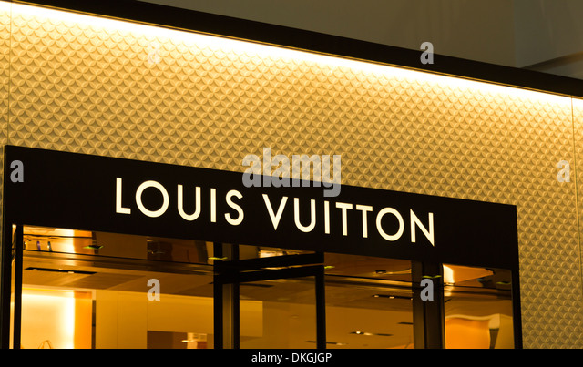 Louis Vuitton LV at Westfield Valley Fair Mall, Santa Clara, California, USA - Stock Image