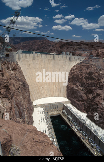 Nevada Southwest Colorado River Hoover Dam hydroelectric power flood control irrigation NV NV - Stock Image