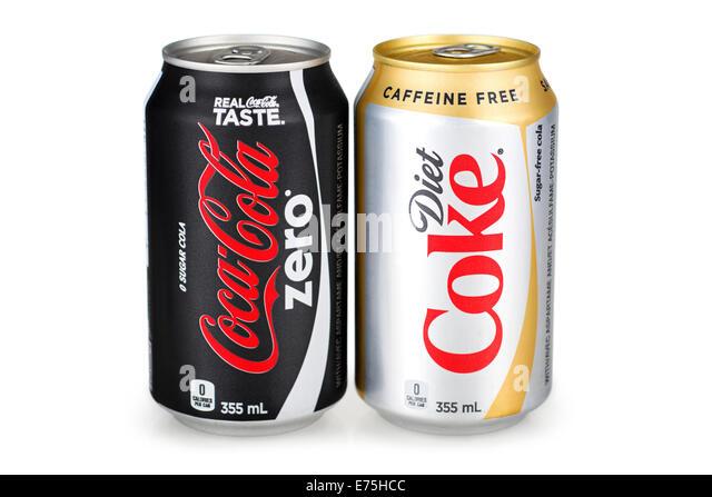 Diet and Coca Cola Zero HS - Stock Image