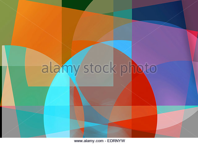 Abstract backgrounds pattern of multicolored geometric shapes - Stock Image