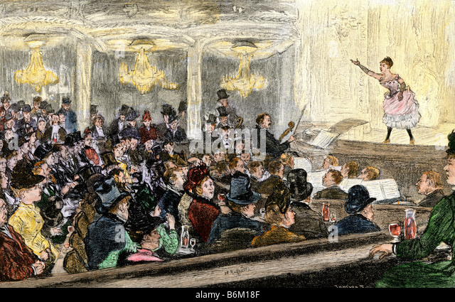 Concert in a Parisian cafe circa 1890 - Stock Image