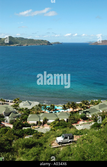 St Barts scenic ocean overview - Stock Image