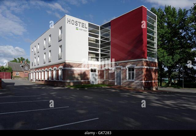 Automatic Hostel Just Rest in Ranna puiestee 6, Viljandi. Estonia - Stock Image