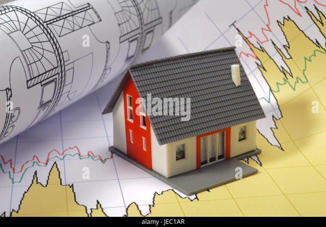 Building of a house, model house, architect's plan, construction, building of a house, architecture, build, - Stock Image