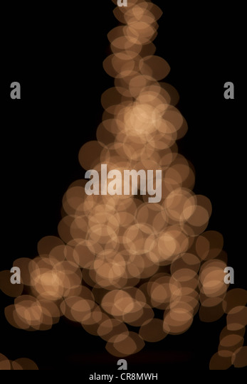 Abstract beige lights, defocussed - Stock Image
