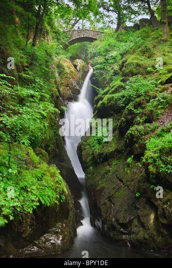 Aira Falls, Lake District, England - Stock Image