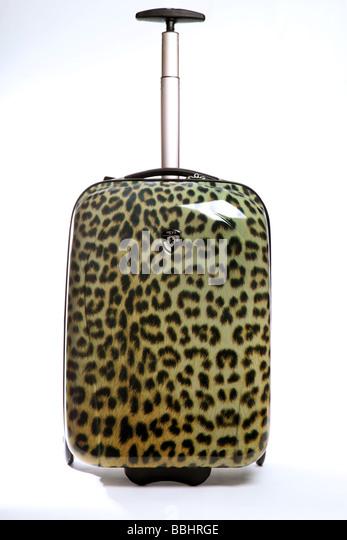 Leopard print travel holdall - Stock-Bilder