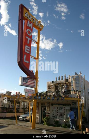 Albuquerque New Mexico Knob Hill Historic Route Aztec Motel W - Stock Image