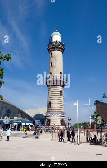 Leuchtturm;  Warnemuende, Hansestadt, - Stock-Bilder