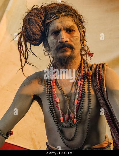 Sadhu, Naga Baba, Kumbh Mela, Allahabad India - Stock-Bilder