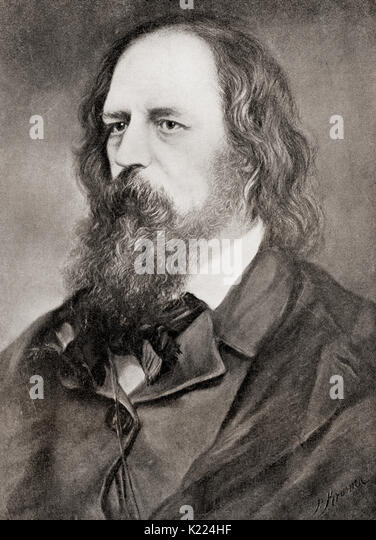 Alfred Tennyson, 1st Baron Tennyson, 1809 –  1892.  Poet Laureate of Great Britain and Ireland.  From International - Stock Image