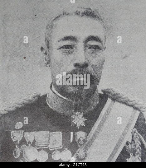 Count Oku Yasukata (1847 – 1930) was a Japanese field marshal and leading figure in the early Imperial Japanese - Stock Image