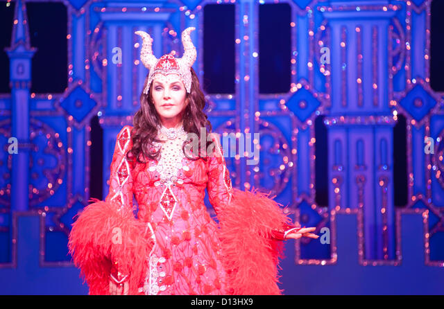 London, UK - 6 December 2012: Priscilla Presley performs as the Wicked Queen during the photo call for Snow White - Stock Image