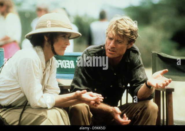 Robert Redford and Meryl Streep out of africa 1985 - Stock Image