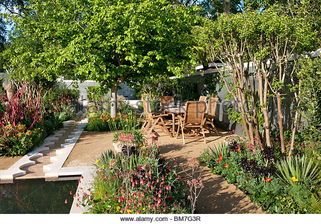 Foreign & Colonial Investments' Garden Designed by Thomas Hoblyn - Stock Image
