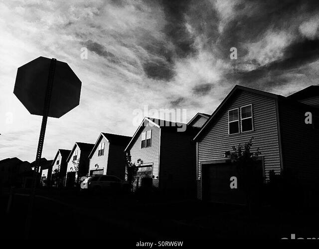 Ashburn, Virginia suburbs. - Stock Image