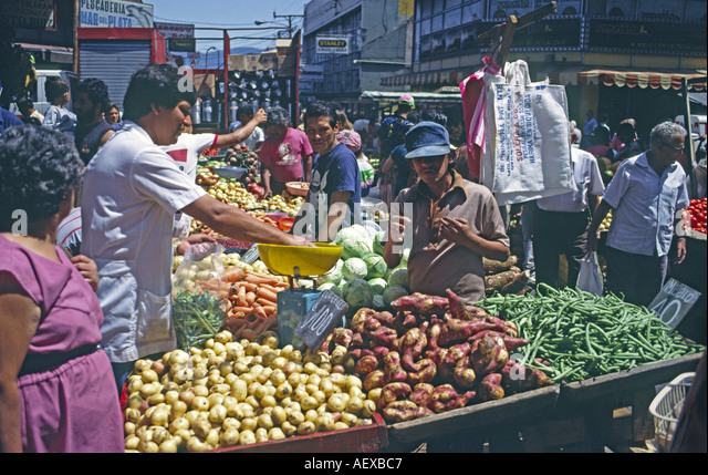 Costa Rica San Jose market fruit and vegetable - Stock Image