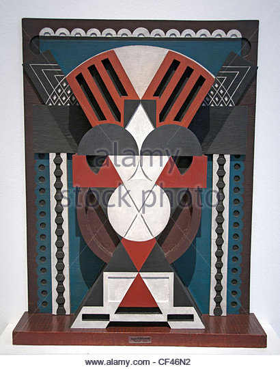 Relief Polychrome Relief Polychrome  1920 Auguste Herbin 1882-1960 France - Stock Image