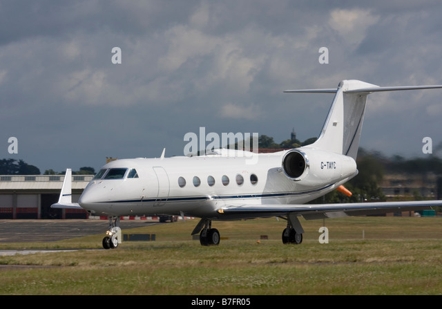 TAG Aviation Gulfstream Aerospace G-IV-X Gulfstream G450 at Farnborough. - Stock Image