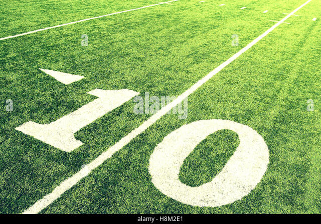 Ten Yard Line - Stock Image