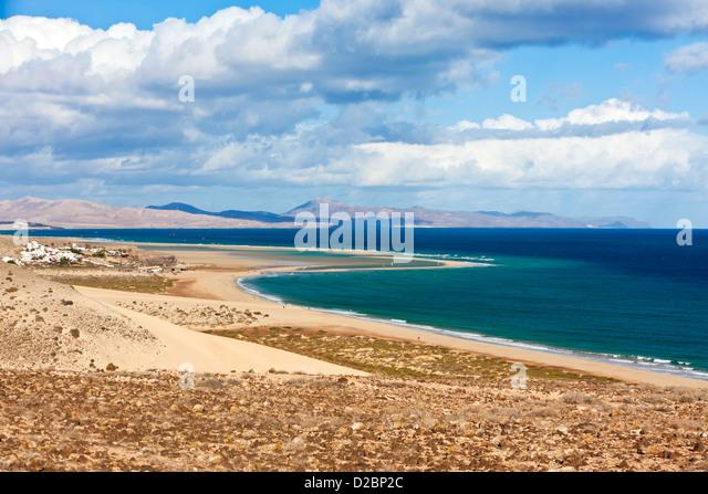 Playa Barca at the southeastern coast of Fuerteventura - Stock Image