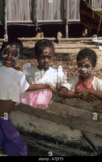 kids in Madagascar - Stock Image