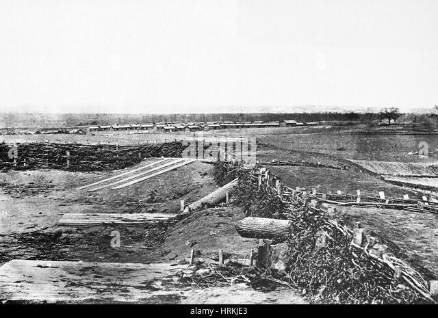 Civil War 'Quaker Guns' - Stock Image