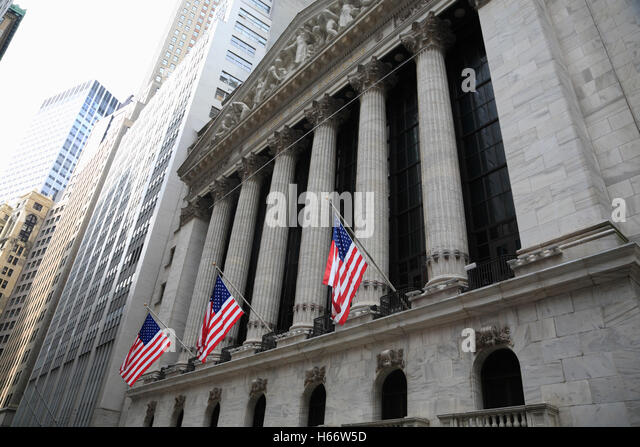 N.Y. Stock Exchange, Wall Street, Manhattan, New York, USA - Stock Image