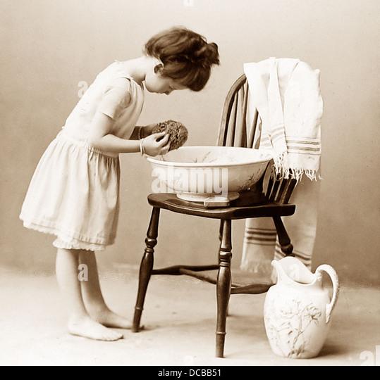 Childhood studio photograph Victorian period - Stock Image