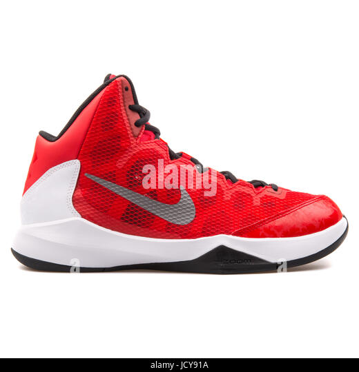 Nike Zoom Without A Doubt Red, White and Black Men's Basketball Shoes -  749432-
