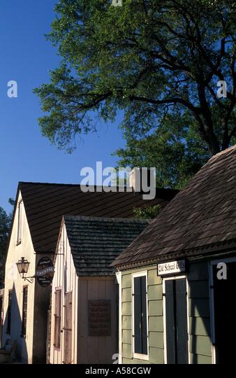 St Augustine, Florida old city colonial spanish quarter skyline - Stock Image