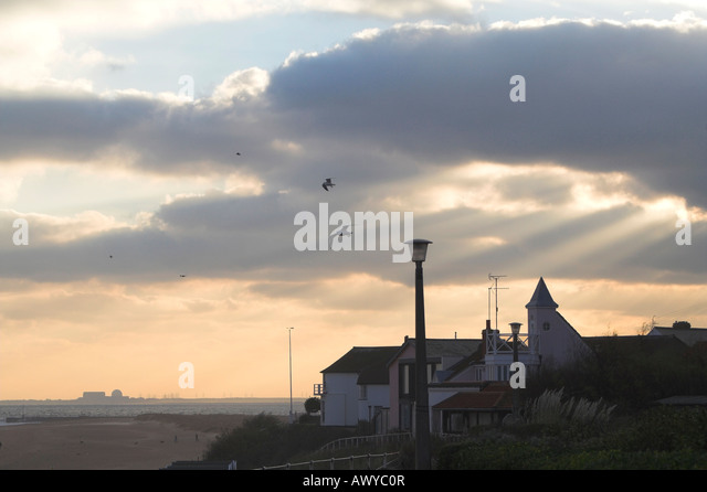 Sizewell B View from Southwold Suffolk England - Stock Image