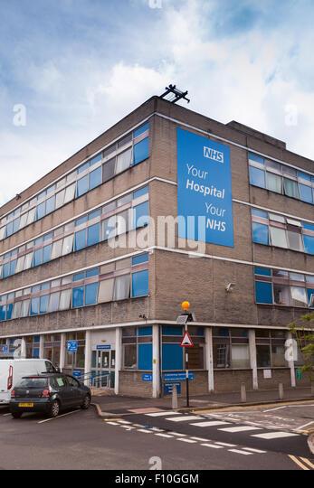Watford General Hospital, Watford, Hertfordshire, UK - Stock Image