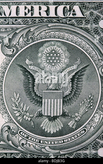 Detailed view of United States currency - Stock Image