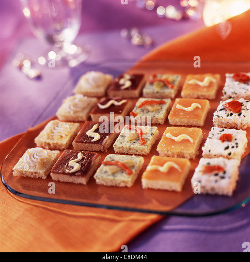 Canapes christmas stock photos canapes christmas stock for Canape aperitif