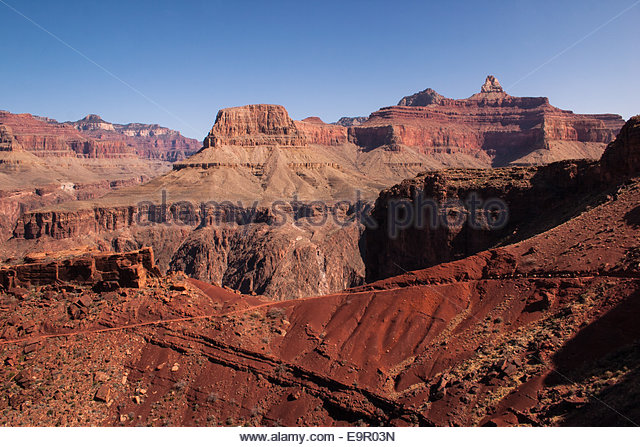 Cliffs of the Grand Canyon - Stock Image