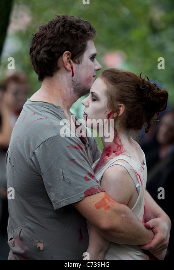 Zombies at Stockholm Zombie Walk 2011 - Stock Image