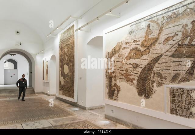 Tunisia, Tunis, National Museum of Bardo - Stock Image