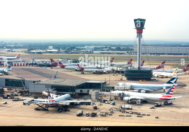 London Heathrow Airport - Stock Image