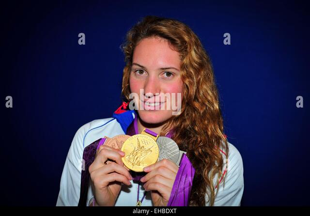 Camille MUFFAT  - 04.08.2012 - Studio - Club France - Jeux Olympiques 2012 - Londres - - Stock Image
